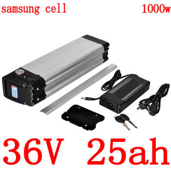 36V Electric Bicycle Battery 36V 12AH 15AH 18Ah 21AH 24AH Lithium Battery pack use samsung cell for 36V 500W 1000W ebike motor image