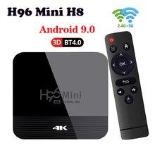 ТВ-приставка H96 Mini H8 на Android 9,0, 2,4 ГГц/телефон, Wi-Fi, Bluetooth 4,0, 2 Гб + 16 ГБ, USB2.0