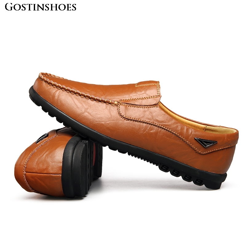 Men Shoes Casual Luxury Summer Mens Loafers Genuine Leather Moccasins Hollow Out Moccasins Homme Slip On Driver Shoes