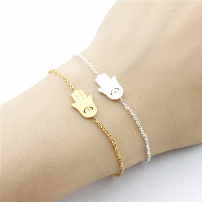 Bonne chance charme main de Fatima bracelets pour femme turquie Protection Bff bijoux Hamsa mauvais œil Talisman paume pendentif Bracelet