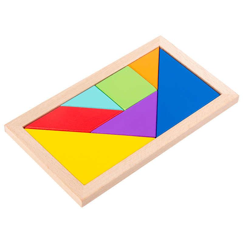 Puzzle Giocattolo Per Bambini Materiali Montessori Giocattoli Educativi Per Bambini Tangram Mattoni Giochi Da Tavolo Puzzle In Legno Giocattolo Per Bambini Aliexpress