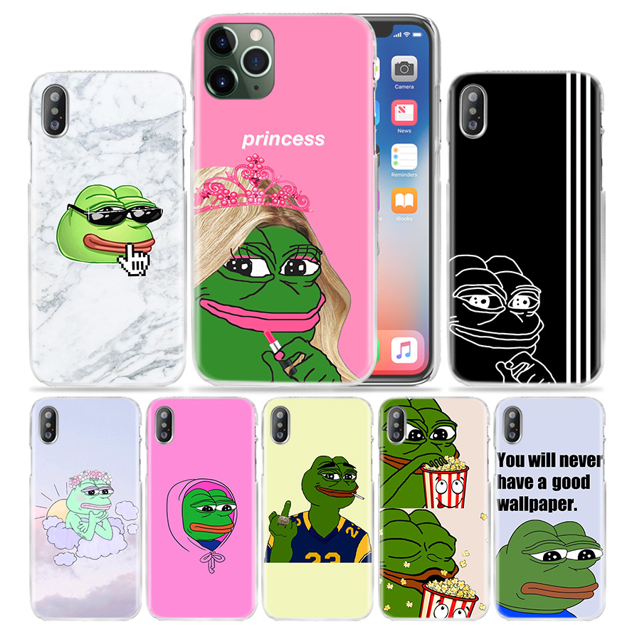 Frog Meme Animal Funny Case For Apple Iphone 11 Pro Xs Max Xr X 10 7 7s 8 6 6s Plus 5 Se 5s 4s 4 5c Hard Pc Phone Coque Cover Half Wrapped Cases Aliexpress