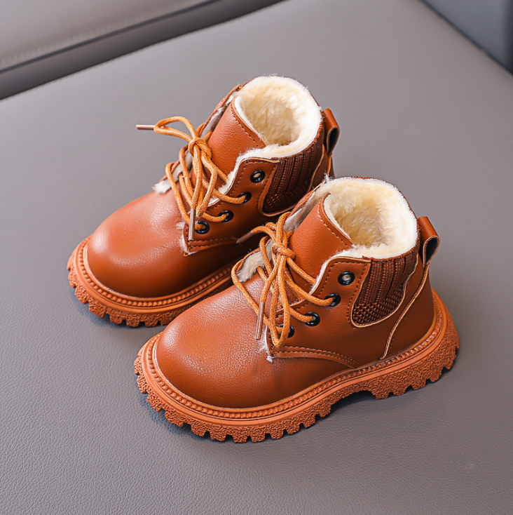 inicializacao criancas do bebe engrossar pelucia martin botas sapatos 02