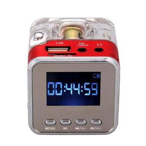 Image 3 - TT 028 многоцветный громкоговоритель со светодиодным дисплеем, портативный мини Стереодинамик USB FM SD для IPHONE/IPAD/IPOD/MP3/ПК