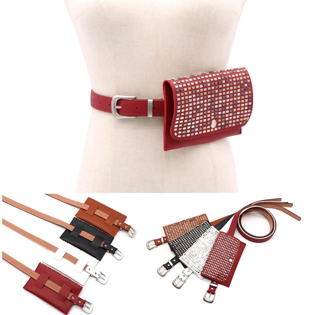 Female Belt New Brand Fashion Waist Bag Women Waist Pack Fanny Pack For Women Leather Waist Belt Shoulder Bag Chest Bag Бананка