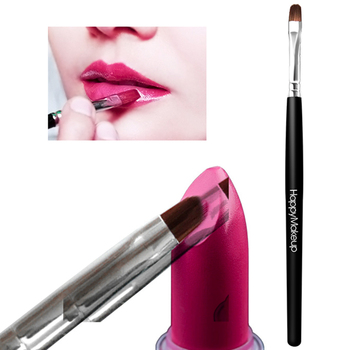 1Pc Fiber Wolf Hair Soft Lipstick Brushes With Wooden Handle Portable Lip Eyeliner Brushes Easy To Use Lip Makeup Brush lip brush lipstick brush portable black lip makeup brush universal makeup brushes for woman s gift