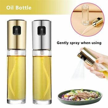 Olive Oil Vinegar Sprayer Spray Bottle Pump Glass Pot Leak-proof Drops Dispenser Seasoning BBQ Kitchen Cooking Tool