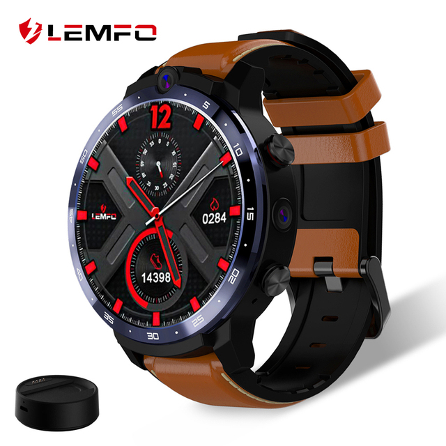 LEMFO LEM12 Smart Watch 4G Face ID 1.6 inch Full Screen OS Android 7.1 3G RAM 32G ROM LTE 4G Sim GPS WIFI Heart Rate Men Women 1