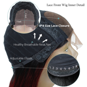 Image 5 - Long Brazilian Straight Ombre Lace Closure Human Hair Wigs 180 Density 1B Lime Green Wigs For Black Women 4X4 Lace Wigs Non remy
