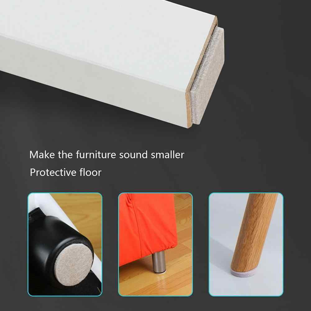 Diri Perekat Perabotan Kaki Kaki Karpet Merasa Bantalan Anti Pelindung Slip Peredam Bumper Meja Kursi Mat V2C6