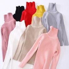 Sweaters Pullover Turtleneck Teenager Girls Winter Kids Children Fall Autumn Bottoming