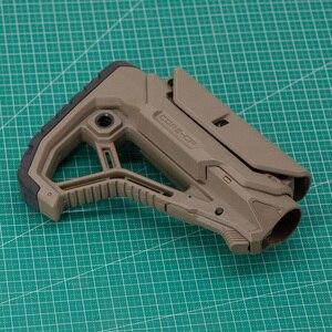 Image 3 - Stock táctico de Nylon extendido ajustable para pistolas de aire CS Paintball deportivo Airsoft BD556 M4 JinMing Gel, caja de engranajes receptor de bláster