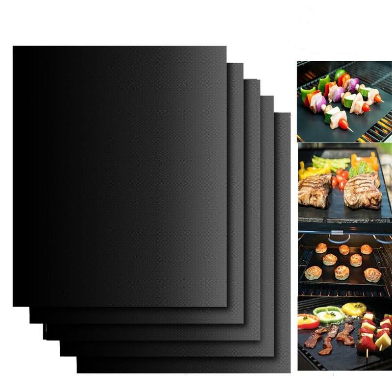 BBQ Grill Mat Barbecue cottura esterna Pad antiaderente piastra di cottura riutilizzabile 40*30cm per accessori per tappetini in PTFE per feste 1
