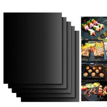 Placa de cozimento reusável 40*30cm da almofada da antiaderente do cozimento exterior do churrasco da esteira da grade do bbq para acessórios da esteira da grade de ptfe da festa