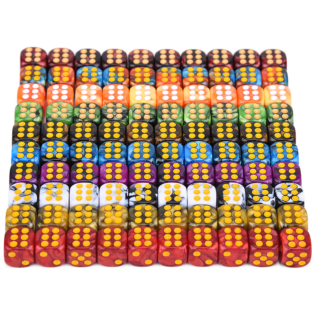 12mm Mini D6 Dice With Dot Numbers For Entertainment Party Club Bar Gambling Playing Game Accessories 10 Colors For Choice
