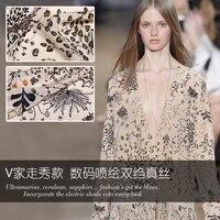 110cm wide silk fabric for dress14mm breathable crepe de chine silk fabric drape dress fabric wholesale silk cloth