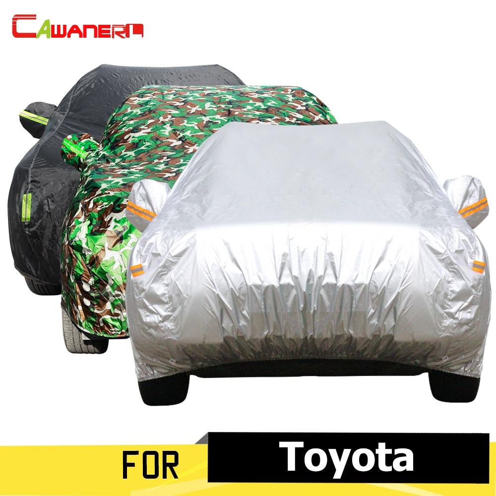 Cawanerl Auto Car Cover Sunshade Outdoor Rain Sun Snow Protector Dust Proof Cover For Toyota Sienna Celica Century Venza Avalon