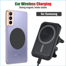 15W Snelle Auto Magnetische Draadloos Opladen Voor Samsung Galaxy S8 S9 S10 S20 S21 Ultra Plus + 5G car Charger Stand Magneet Sticker Case