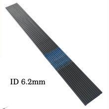 12 pçs espinha 300 340 400 500 600 700 800 900 1000 carbono puro seta eixo id 6.2mm ou id 4.2mm arco e flecha huntting e tiro