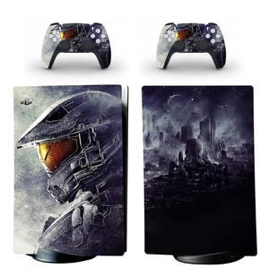 Image 2 - สงครามสไตล์ PS5ดิจิตอล Edition สติกเกอร์ผิวสำหรับ Playstation 5คอนโซลและ2ตัวควบคุมรูปลอกไวนิลสกินป้องกันสไตล์9