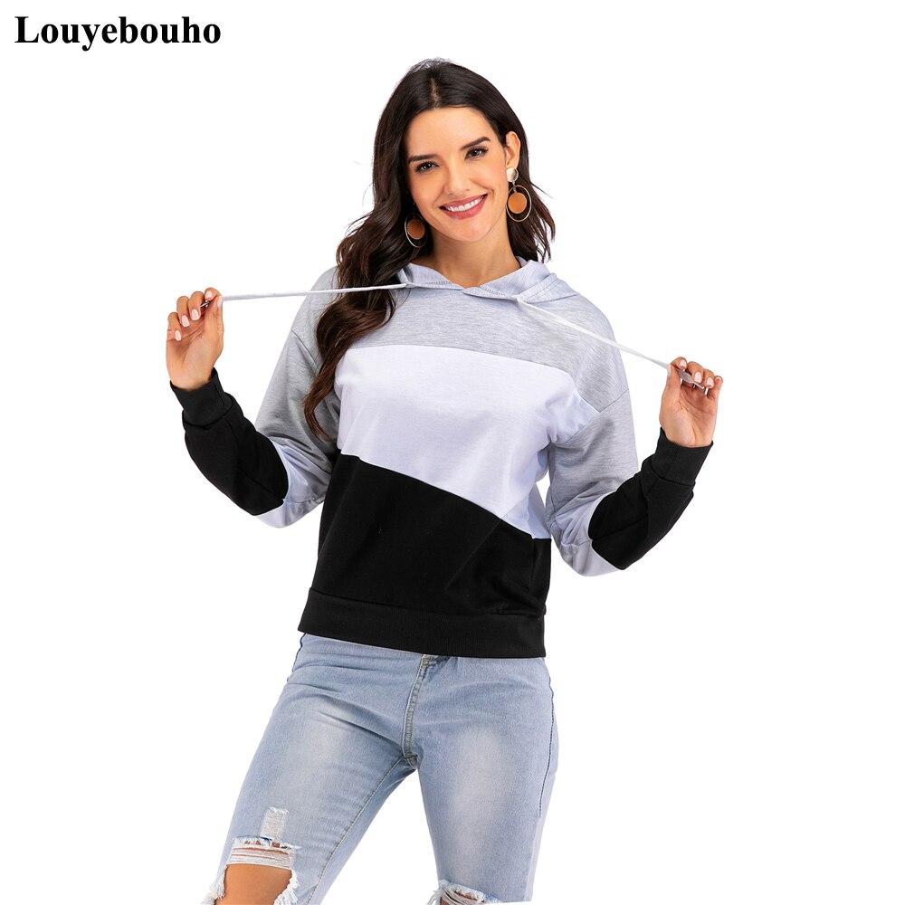 Autumn Winter Fashion Casual Hoodie 2019 Women Long Sleeve Hooded Sweatshirt Loose Hoody Pullover Bottoming Shirt Top Streetwear