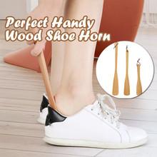 Leniwy pomocnik do butów przenośny skarpety suwak obsługiwane łyżka do butów pomocnik do podnoszenia butów łatwy podnośnik do butów elastyczny wytrzymały pomocnik do butów tanie tanio Drewna Shoe Lifting Helper Easy home
