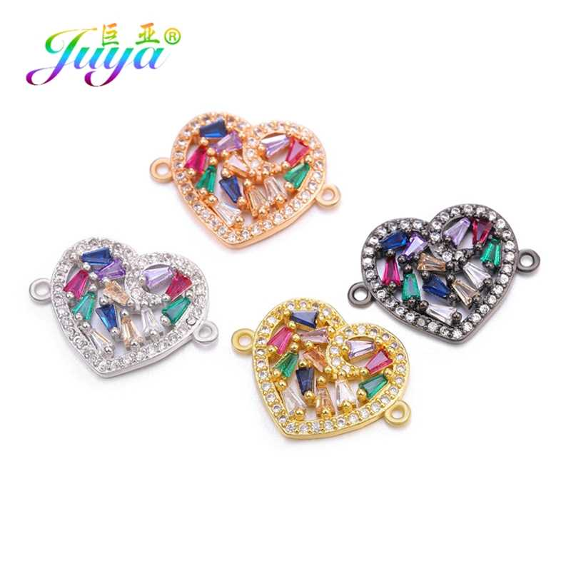 Women 2019 CZ Rainbow Eye Connector for Jewelry Making DIY Bracelets