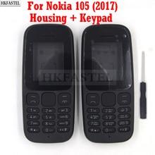 Carcasa HKFASTEL para Nokia 105 2017, Tarjeta SIM Dual, carcasa para teléfono móvil de alta calidad, teclado árabe e inglés