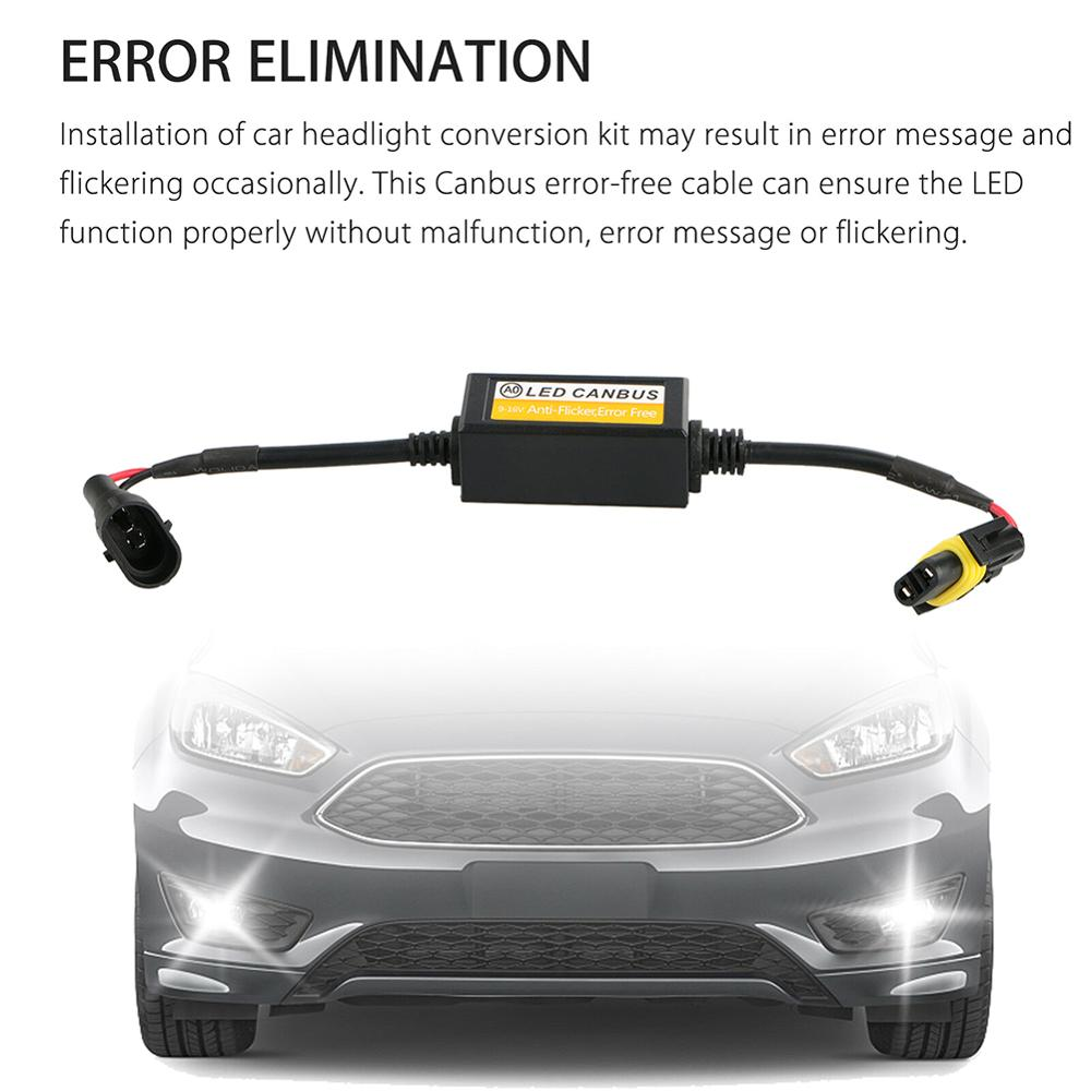 H11 2 pièces sans erreur Canbus décodeur phare LED Anti-scintillement résistance annuleur pour LED voiture phare ampoule Kits voiture accessoires