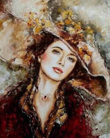 Delle donne del cappello pieno pittura punta di diamante del fumetto dimond del ricamo della signora di arte del diamante di dotz immagine anime diamant mosaico sticker fai da te