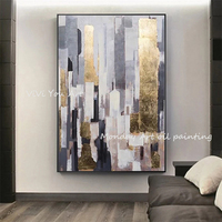 High Quality canvas painting Artist Handmade Abstract Gold Oil Painting for Living Room Modern Painting wall decor picture art