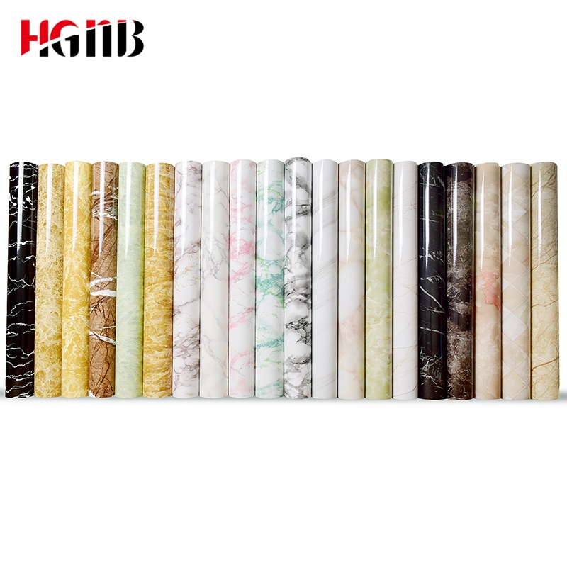 PVC Self-adhesive Wallpaper Marble Stickers Waterproof Heat Resistant Kitchen Countertops Table Furniture Cupboard Wall Paper