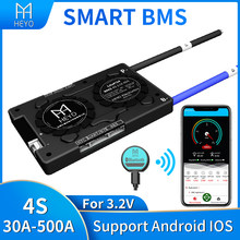 Inteligentny 4s bms Lifepo4 100A 200a 30A 40A 60A do akumulatora litowego o mocy 3.2V 12V z bluetooth UART usb na PC terminal Ntc