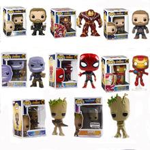 Marvel Thor Hulk Iron Man Spider-Man Thanos kapitan ameryka brelok ręcznie robiony Model dekoracja ozdoby zabawkowe lalki chłopcy mężczyźni tanie tanio Hasbro CN (pochodzenie) cartoon NONE Film i telewizja 10cm Limitowana kolekcja 3 lat Z tworzywa sztucznego doll Zapas rzeczy