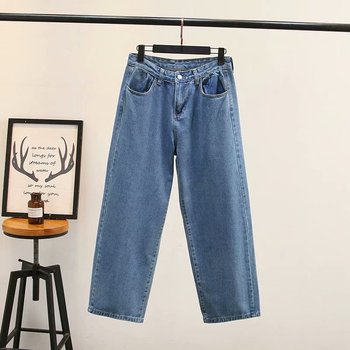 Boyfriend Jeans for Women Large Jeans for Women Autumn and Winter New Styles Skinny Wide-leg Jeans фото