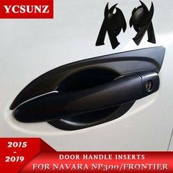 2015 2019 czarne klamki do drzwi Nissan Navara 2019 Np300 akcesoria drzwi uchwyt wewnętrzny do nissan frontier 2016 YCSUNZ w Klamki do drzwi zewnętrznych od Samochody i motocykle na