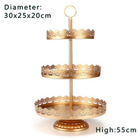 Cake Display Stand Cupcake Holder Removable Party Decor Round Iron Wedding Birthday Kitchen Dining Bar 3 Tier Tower