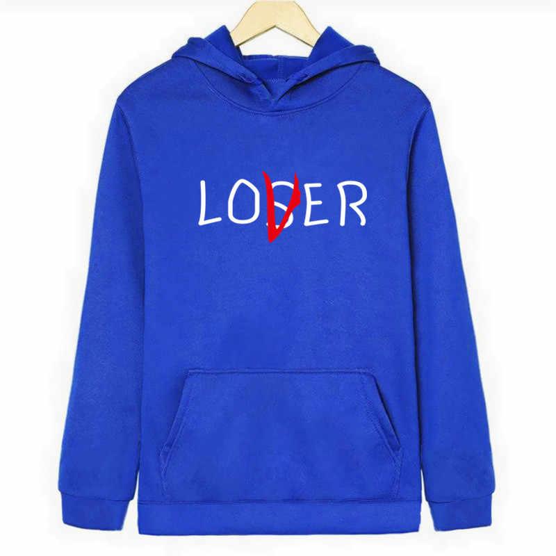Película perdedores sudaderas con capucha para el club de los hombres/Harajuku perdedor amante inspiró Sudadera con capucha Casual Jersey chaqueta Oversize