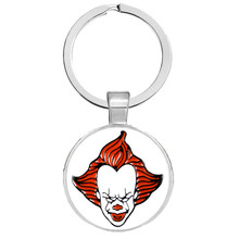 DC Joker Keychains Horror Stephen King's It We All Float Down Here Pennywise Keyrings Suicide Squad Joker Harley Quinn Jewelry(China)
