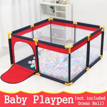 Baby Playpen Dry Pool With Balls Baby Fence Indoor Outdoor Playpen For Newborn Baby Activity Supplies Safety Barrier Bed Fence