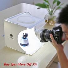 Мини-светильник, коробка, двойной светодиодный фонарь, комнатное фото освещение для фотосъемки в студии, стрельба, шатер-фон, кубическая коробка, фото студия, Прямая поставка, новинка