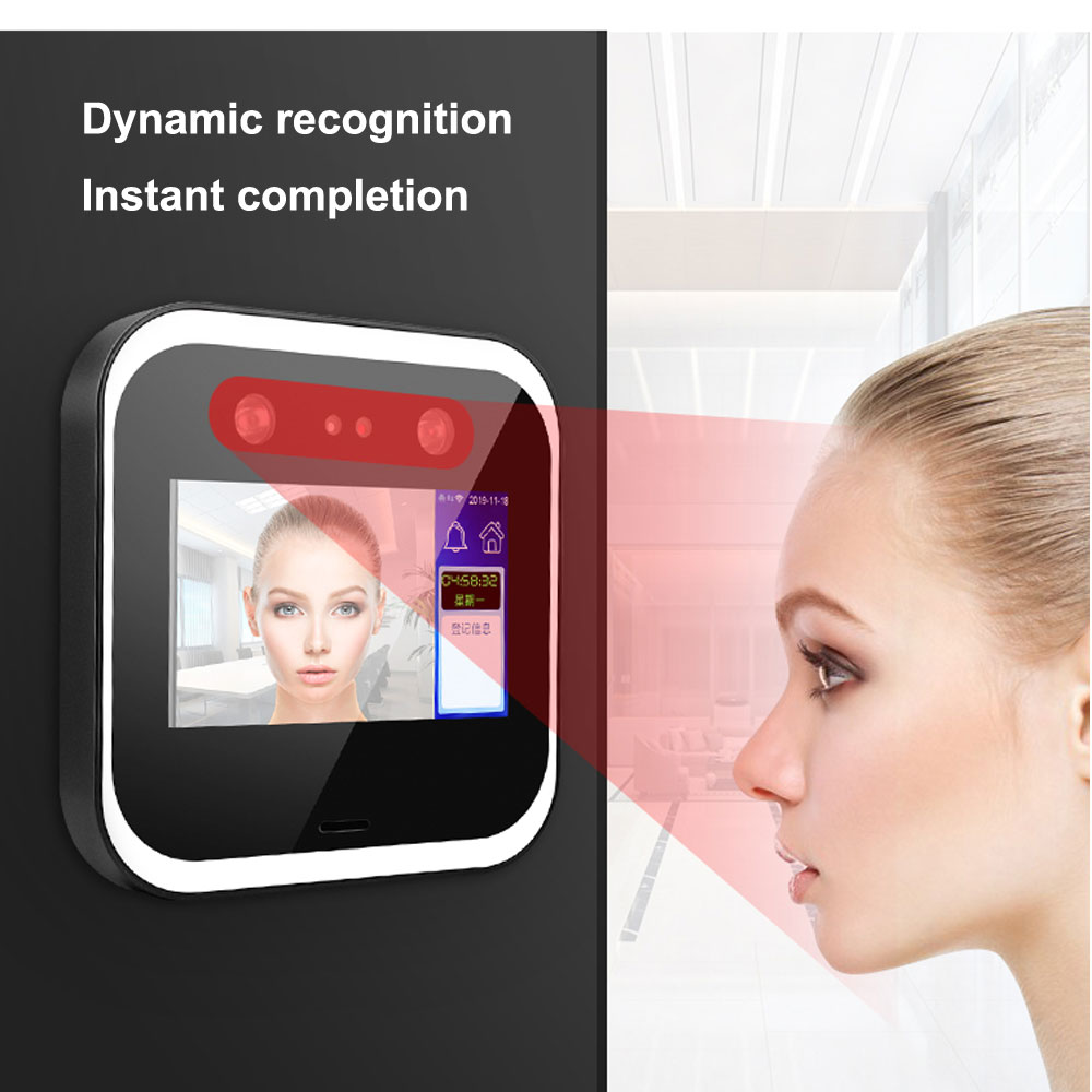 Dynamic Face Recognition HD 2MP Camera  Access Control  System WIFI/ TCP/IP  3000pcs Faces 5 Inch Touch Screen