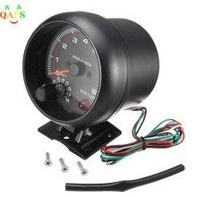 Venda quente impermeável 12v carro led shift light 0-8000 rpm novo tacômetros tacho medidor de calibre