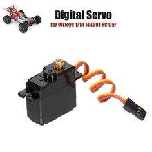 Para wltoy 1/14 144001 rc carro digital servo metal engrenagem rc servo rc peças de reposição