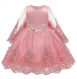 Image 4 - Cute Baby Wedding Party mała druhna haft suknia bankietowa pierwsza eucharystia na urodziny bankiet pierwszej rocznicy dziecka