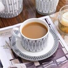 Elegant H Mark Golden Top Grade Bone China Coffee Cup European Tea Set And Saucer Afternoon Drinkware