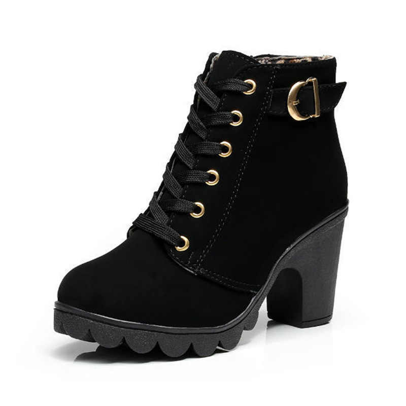 Heiße Frauen Schuhe Warme Frauen Stiefel Stiefeletten Für Frauen Winter Stiefel Weibliche Winter Schuhe High Heels Booties frauen stiefel