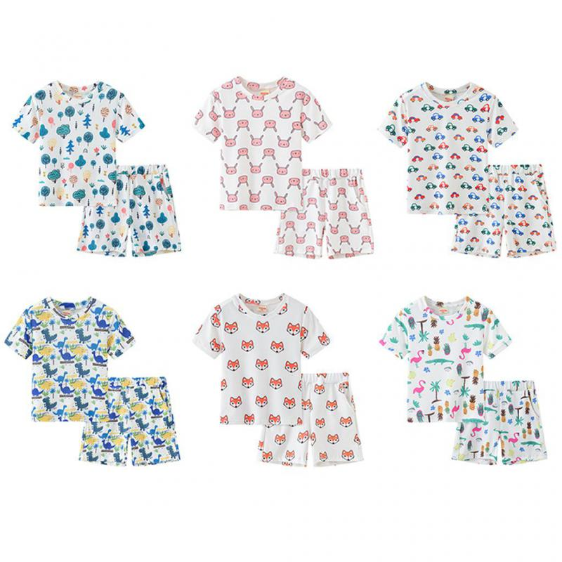 Baby Boys Clothes Summer  Short Sleeve Suit For Girls Cartoon Children Casual Sets Pyjamas Kids Boys Sleepwear Pijama Infantil