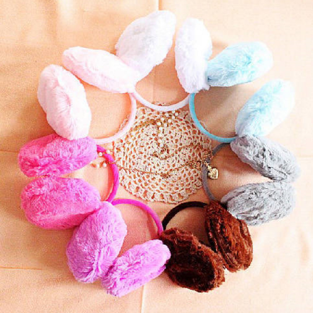 5 Colors New Cute Colorful Earmuffs Earwarmers Ear Muffs Earlap Winter Warm Soft Plush Earmuffs Protect Earflap