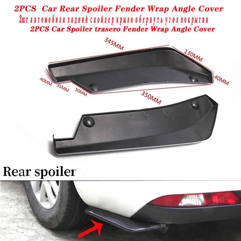 Mobil Depan Belakang Spoiler Fender Bungkus Sudut Bumper Cover untuk Skoda Octavia A5 A7 Kodiaq Luar Biasa 2 Cepat Fabia 1 porsche 911 Cayenne